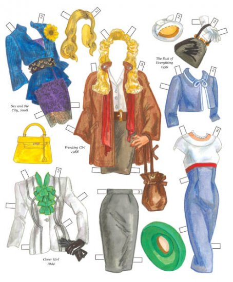 Hollywood Goes to New York City Paper Dolls - Click Image to Close