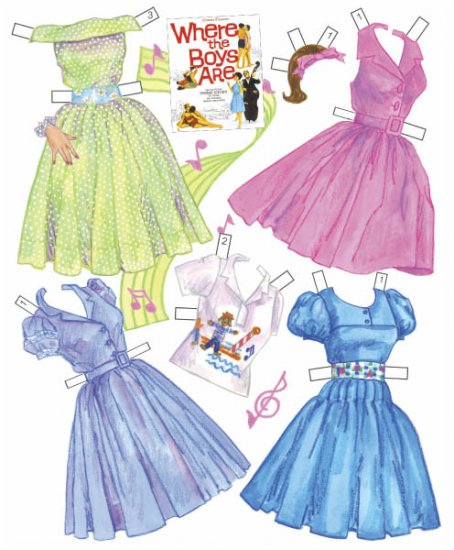 Connie Francis Paper Dolls - Click Image to Close