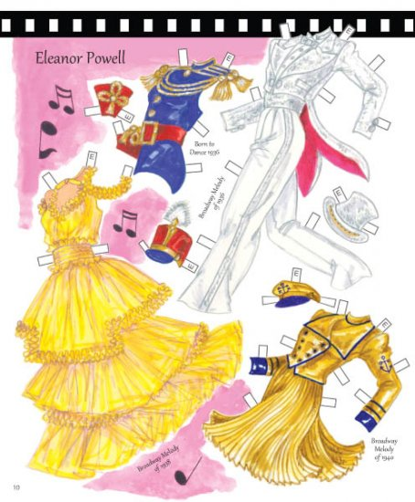 Classic Dancing Stars Paper Dolls - Click Image to Close