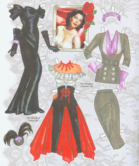 Ava Gardner Paper Dolls - Click Image to Close