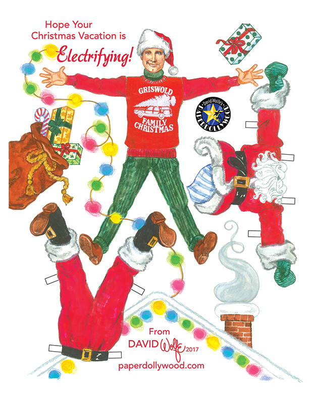 Griswold Christmas Paper Doll