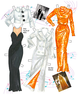 Doris Day Film Fashions Paper Dolls - Click Image to Close