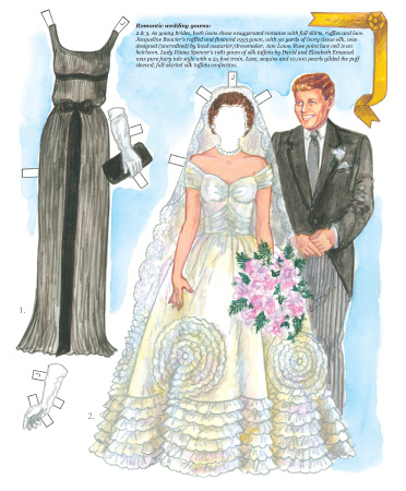 Fashion Icons Princess Diana and Jacqueline Kennedy Paper Dolls - Click Image to Close