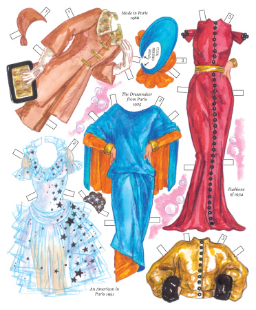 Hollywood Goes to Paris Paper Dolls - Click Image to Close